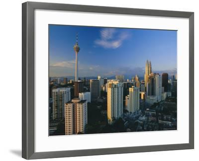 City Skyline Including the Petronas Building, the World's Highest Building, Kuala Lumpur, Malaysia-Gavin Hellier-Framed Photographic Print