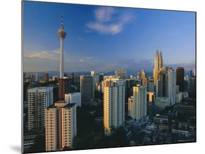 City Skyline Including the Petronas Building, the World's Highest Building, Kuala Lumpur, Malaysia-Gavin Hellier-Mounted Photographic Print
