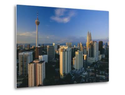 City Skyline Including the Petronas Building, the World's Highest Building, Kuala Lumpur, Malaysia-Gavin Hellier-Metal Print
