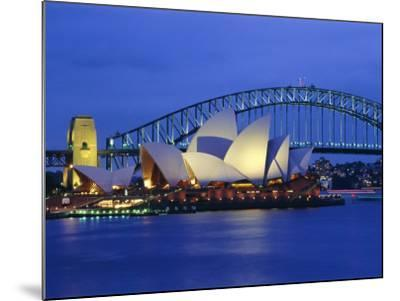 Opera House and Sydney Harbour Bridge, Sydney, New South Wales, Australia-Gavin Hellier-Mounted Photographic Print