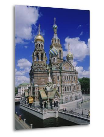 Church of the Resurrection (Church on Spilled Blood), St. Petersburg, Russia, Europe-Gavin Hellier-Metal Print
