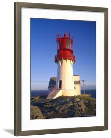 Lindesnes Fyr Lighthouse, Southernmost Point of Norway, South Coast, Norway, Scandinavia, Europe-Gavin Hellier-Framed Photographic Print