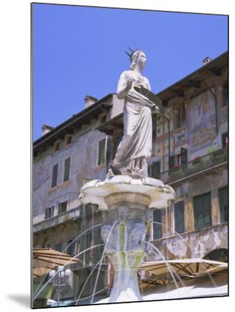 Fountain in Piazza Delle Erbe, Verona, Unesco World Heritage Site, Veneto, Italy, Europe-Gavin Hellier-Mounted Photographic Print