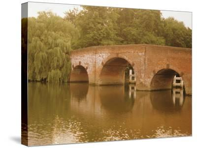 The 18th Century Sonning Bridge Over the River Thames Near Reading, Berkshire, England, UK-David Hughes-Stretched Canvas Print