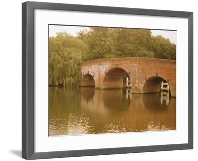 The 18th Century Sonning Bridge Over the River Thames Near Reading, Berkshire, England, UK-David Hughes-Framed Photographic Print