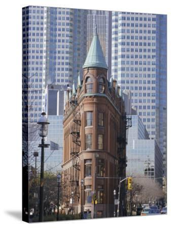 Old and New Buildings in the Downtown Financial District, Toronto, Ontario, Canada, North America-Anthony Waltham-Stretched Canvas Print