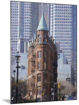 Old and New Buildings in the Downtown Financial District, Toronto, Ontario, Canada, North America-Anthony Waltham-Mounted Photographic Print