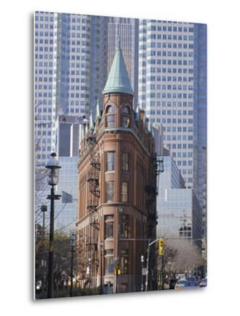 Old and New Buildings in the Downtown Financial District, Toronto, Ontario, Canada, North America-Anthony Waltham-Metal Print