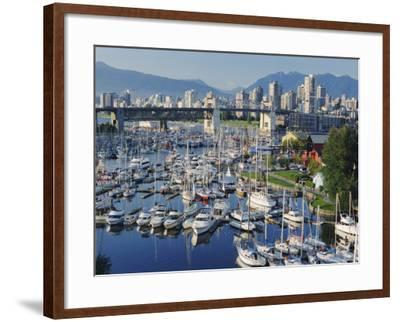 City Centre Seen Across Marina in Granville Basin, Vancouver, British Columbia, Canada-Anthony Waltham-Framed Photographic Print