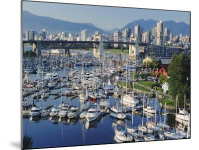 City Centre Seen Across Marina in Granville Basin, Vancouver, British Columbia, Canada-Anthony Waltham-Mounted Photographic Print