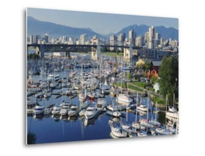 City Centre Seen Across Marina in Granville Basin, Vancouver, British Columbia, Canada-Anthony Waltham-Metal Print