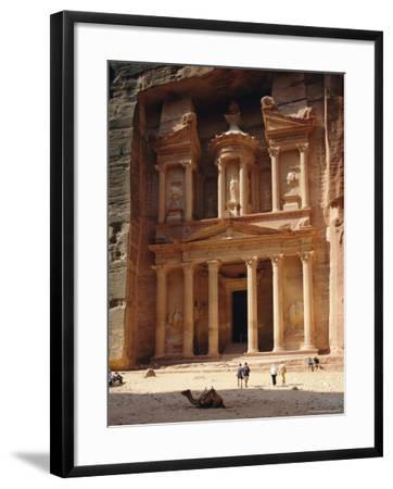The Treasury, Rock Cut Building Dating from Nabatean Times, Petra, Jordan-G Richardson-Framed Photographic Print
