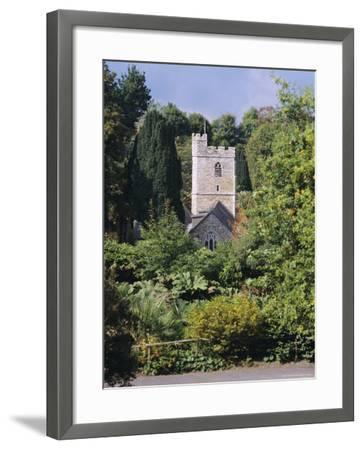 Church, St. Just in Roseland, Cornwall, England, UK-G Richardson-Framed Photographic Print