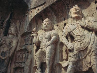 Longmen Buddhist Caves, Luoyang, Hunan Province, China, Asia-Jane Sweeney-Framed Photographic Print