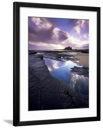 Bamburgh Castle at Dawn, Northumberland, England, United Kingdom, Europe-Lee Frost-Framed Photographic Print
