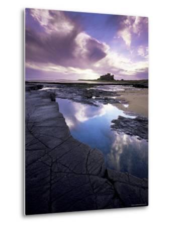 Bamburgh Castle at Dawn, Northumberland, England, United Kingdom, Europe-Lee Frost-Metal Print