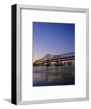Mississippi River Bridge, New Orleans, Louisiana, USA-Charles Bowman-Framed Photographic Print