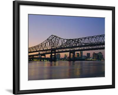 Mississippi River Bridge, New Orleans, Louisiana, USA-Charles Bowman-Framed Photographic Print