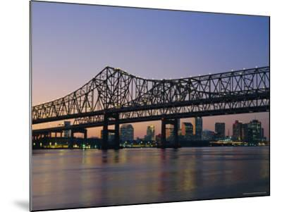 Mississippi River Bridge, New Orleans, Louisiana, USA-Charles Bowman-Mounted Photographic Print