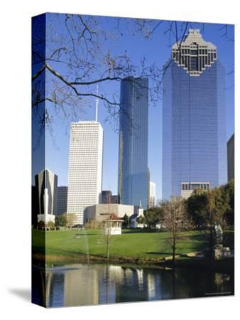 Skyscrapers, Houston, Texas, USA-Charles Bowman-Stretched Canvas Print
