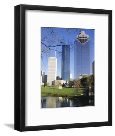 Skyscrapers, Houston, Texas, USA-Charles Bowman-Framed Photographic Print