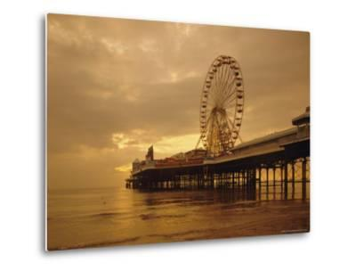 The Pier, Blackpool, Lancashire, England, UK, Europe-Charles Bowman-Metal Print