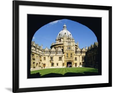 Brasenose College, Oxford University, Oxford, Oxfordshire, England, UK, Europe-Charles Bowman-Framed Photographic Print