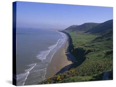 Rhossili Bay, Gower Peninsula, Glamorgan, Wales, UK, Europe-Charles Bowman-Stretched Canvas Print