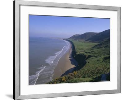 Rhossili Bay, Gower Peninsula, Glamorgan, Wales, UK, Europe-Charles Bowman-Framed Photographic Print