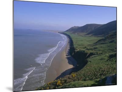 Rhossili Bay, Gower Peninsula, Glamorgan, Wales, UK, Europe-Charles Bowman-Mounted Photographic Print