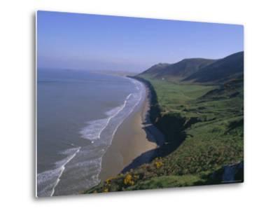 Rhossili Bay, Gower Peninsula, Glamorgan, Wales, UK, Europe-Charles Bowman-Metal Print