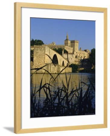 The River Rhone at Avignon, Provence, France-Charles Bowman-Framed Photographic Print