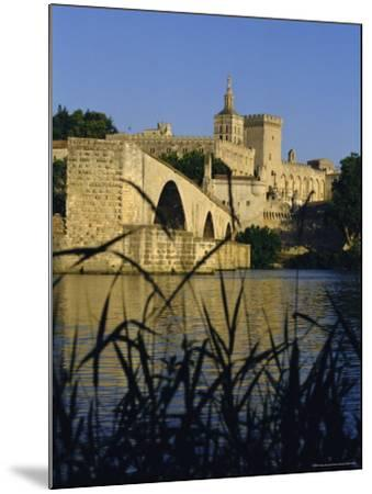 The River Rhone at Avignon, Provence, France-Charles Bowman-Mounted Photographic Print