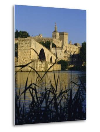 The River Rhone at Avignon, Provence, France-Charles Bowman-Metal Print