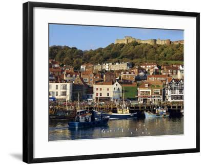 Scarborough, Harbour and Seaside Resort with Castle on the Hill, Yorkshire, England-Adina Tovy-Framed Photographic Print