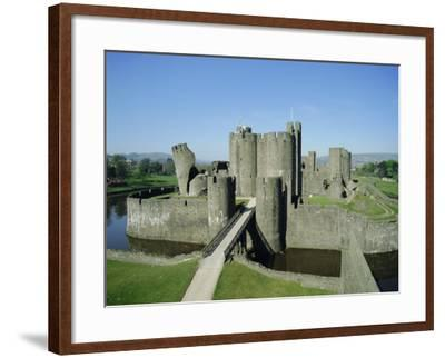 Caerphilly Castle, Glamorgan, Wales, UK, Europe-Adina Tovy-Framed Photographic Print
