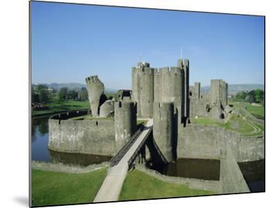Caerphilly Castle, Glamorgan, Wales, UK, Europe-Adina Tovy-Mounted Photographic Print