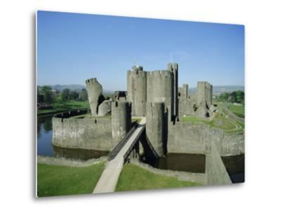 Caerphilly Castle, Glamorgan, Wales, UK, Europe-Adina Tovy-Metal Print