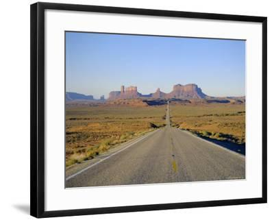 Road to Monument Valley, Navajo Reserve, Utah, USA-Adina Tovy-Framed Photographic Print