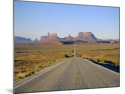 Road to Monument Valley, Navajo Reserve, Utah, USA-Adina Tovy-Mounted Photographic Print