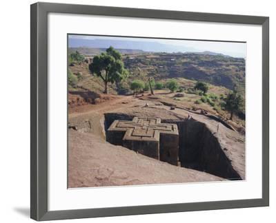 Bet Giorgis, Rock Cut Church, Lalibela, Ethiopia, Africa-Julia Bayne-Framed Photographic Print