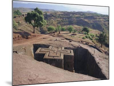 Bet Giorgis, Rock Cut Church, Lalibela, Ethiopia, Africa-Julia Bayne-Mounted Photographic Print