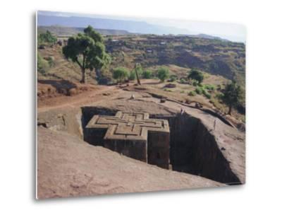 Bet Giorgis, Rock Cut Church, Lalibela, Ethiopia, Africa-Julia Bayne-Metal Print