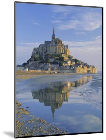 Mont St. Michel (Mont Saint-Michel) Reflected in Water, Manche, Normandy, France, Europe-Ruth Tomlinson-Mounted Photographic Print