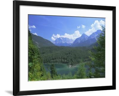 View to the Zugspitze Across the Fernsteinsee, Tirol (Tyrol), Austria, Europe-Ruth Tomlinson-Framed Photographic Print