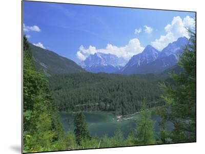 View to the Zugspitze Across the Fernsteinsee, Tirol (Tyrol), Austria, Europe-Ruth Tomlinson-Mounted Photographic Print