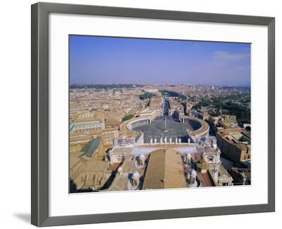 St. Peters Square (Piazza San Pietro), Vatican, Rome, Italy, Europe-Hans Peter Merten-Framed Photographic Print