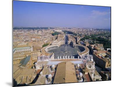 St. Peters Square (Piazza San Pietro), Vatican, Rome, Italy, Europe-Hans Peter Merten-Mounted Photographic Print