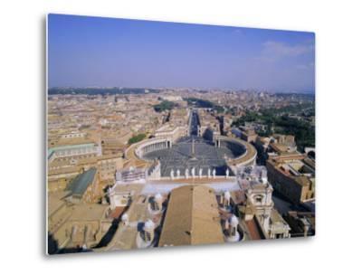 St. Peters Square (Piazza San Pietro), Vatican, Rome, Italy, Europe-Hans Peter Merten-Metal Print