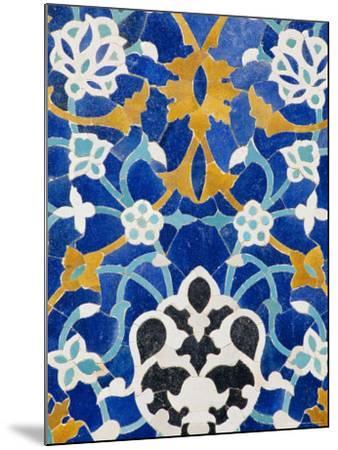 Ceramic Detail on Mir-I-Arab Madressa (Madrasa), Bukhara, Uzbekistan, Central Asia-Upperhall Ltd-Mounted Photographic Print
